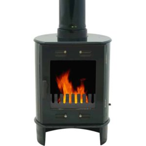 Carron Dante 5kw Cast Iron Stove - Enamel Green