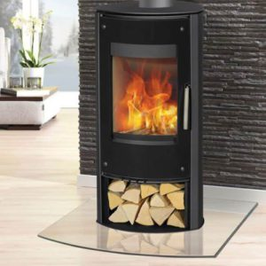 Henley Stoves Zanzibar 5kW Black Glass Stove