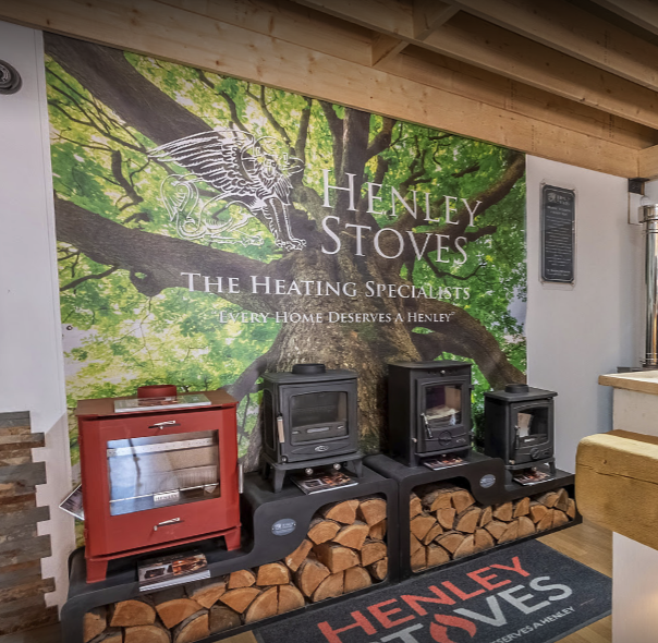 Interior of the N.E Stoves showroom